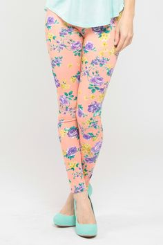 "check out our ""Blooming Floral Legging"" which is perfect for Spring style. Check it out on www.cicihot.com for more floral and pastel styles. #CiCihot #fashion #style #floralprint #floral #leggings #printleggings #fashionista"