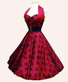 Red Spiderweb 50's style dress!