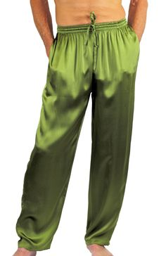 Nyteez Men's Silk Pajama Bottoms Lounge Pants