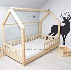 House Beds For Kids, Toddler House Bed, Diy Toddler Bed, Kid Beds, Bedroom Office, Girls Bedroom, Sleepover Room, One Bed, Big Girl Rooms