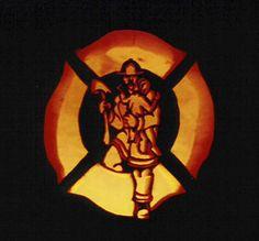Firehouse Jack-O-Lantern by ffrebel Firefighter Halloween, Firefighter Family, Firefighter Decor, Pumpkin Decorating, Happy Halloween, Halloween Ideas, Tis The Season, Halloween Pumpkins, Artsy Fartsy