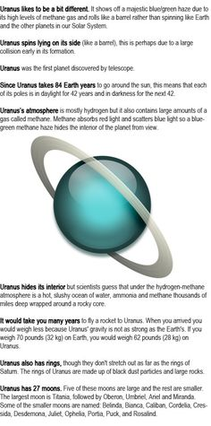 Uranus facts for kids http://firstchildhoodeducation.blogspot.com/2013/09/uranus-facts-for-kids.html