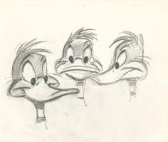 Original model drawing of Daffy Duck by Chuck Jones