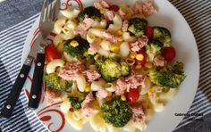 Ensalada de pasta, atún y brócoli