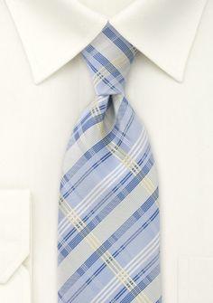 Krawatte Streifen blau gelb