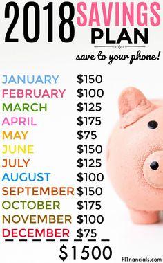 #2018 #savingsplan #savingmoney