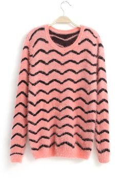 Pink Curve Sweater