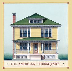 Image result for american foursquare front door