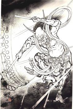 All About Art Tattoo Studio Rangiora. Japanese Demon Tattoo, Japanese Tattoos For Men, Japanese Tattoo Symbols, Traditional Japanese Tattoos, Japanese Tattoo Designs, Asian Tattoos, 3d Tattoos, Sleeve Tattoos, Japanese Prints