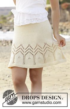 Free Knitting Pattern for an Embrace of the Sun Skirt.