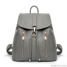 3b52e6b42580f Wow~ Awesome Causal Soft Leather Travel Rucksack Zipper Women's Shopping  Backpacks ! It only $39.99