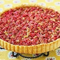 French Style Rhubarb Tart by Lydie Marshall