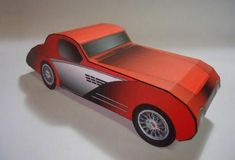 1930`s Classic Car Paper Model - by Papermau - Download Now!        ==         A very simple paper model of an Imaginary Vehicle with 1930`s Classic Design, In just one sheet of paper and in seven different colors.