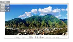 Panoramic view of Avila National Park in Caracas City. by Alepho, €14.87