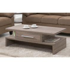 Rectangular 1 Drawer Coffee Table