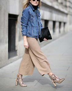 Culottes- 6 Essentials to Transition Your Wardrobe from Winter to Spring via @PureWow