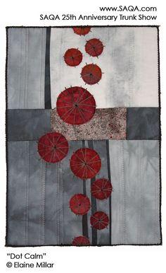 Art quilt by Elaine Millar #artquilts #SAQA