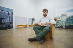 Creatively engaging with his past and identity, Iceland-based painter and visual artist Lukas Bury challenges his own experiences through painting. Influenced by growing up in Germany (Bonn and Berlin) while having a Polish background, as well as now living in Iceland, national identification with objects has become one of Bury's main motifs.