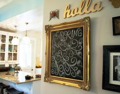 Create Some Custom Artwork | Click Pic for 21 DIY Chalkboard Paint Ideas | Easy Decorating Ideas for The Home