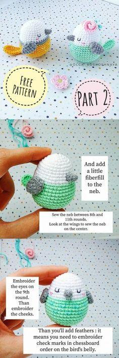 Amigurumi Little Birds Free Crochet Pattern - Crochet.plus - Crochet Clothing 2019 - 2020 Knitting Projects, Crochet Projects, Sewing Projects, Crochet Birds, Crochet Crafts, Crochet Amigurumi, Crochet Dolls, Quick Crochet, Free Crochet