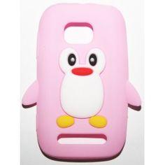 Lumia 710 vaaleanpunainen pingviini silikonisuojus. Phone Cases, Phone Case