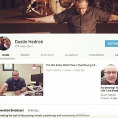 Subscribe to #DHM and get alerts & updates on new #sermons online as well as when the #OverflowingLife #Broadcast is starting. Never miss an episode of #RevivalGeneration videos or one of Dustin's #sermons on #YouTube again! #Subscribe here: http://bit.ly/2AjqZxm