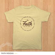 'Faith Insignia' - Kaos rohani bertuliskan faith dalam bentuk desain insignia / badge. Tersedia dalam berbagai ukuran dan pilihan warna di website Teesalonika. Size lengkap mulai dari kaos anak sampai kaos dewasa. Bisa kompakan bareng teman, pasangan, atau keluarga. --- CP : BBM (5EA8DA88) / WA (08811575513) ---- #KaosKristen #KaosRohani #JadilahTerang #KaosCouple #KaosFamily #KaosKeluarga #YesusKristus