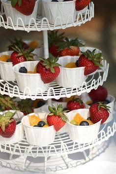 Fruit in little bakers cups