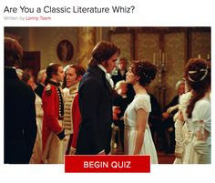 Are You a Classic Literature Whiz?  Consider this a bit of English 101. Do you know your Melville from your Austen? Take the quiz to see if you have what it takes to make the grade.