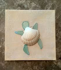 Image result for acrylic painting with seashells and sand glue