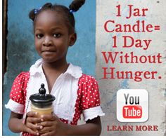 Bridgewater Candles -- buy a candle and feed an orphaned child