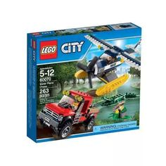 Lego City 60070 Persecucion En Hidroavion - $ 1.799,99