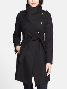 Chic military coat.