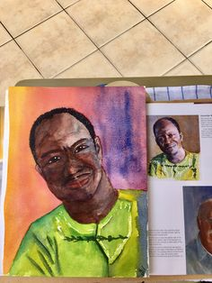 My frist step by step portrait from the book of David Thomas