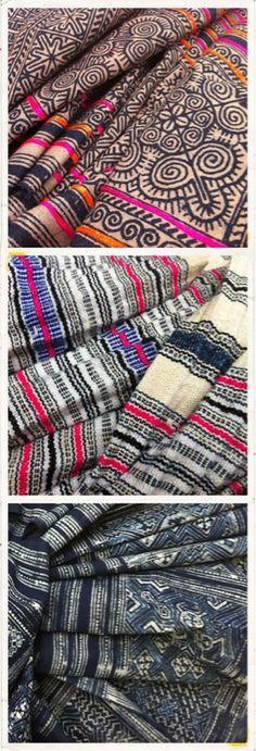 Hmong batik fabric