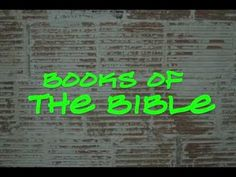Books of the Bible Rap @Julie Bridges @Debbie Fiderlein   Um...yes!  Kids would love this!  And I can totally see you two rapping this!!