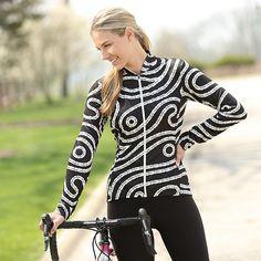 Activewear Hooded Bike Top Terry Soleil Long Sleeve Cycling Hoody for Women