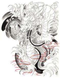 Irezumi Dragon 003-001 by fydbac.deviantart.com on @deviantART