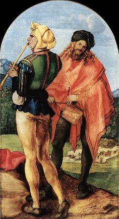 Albrecht Dürer - Two Musicians.