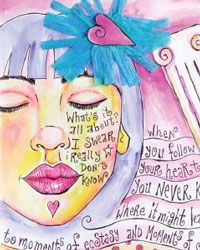 The Ubiquitous Muse of Visual Journaling by Violette - one of 5 art journaling techniques