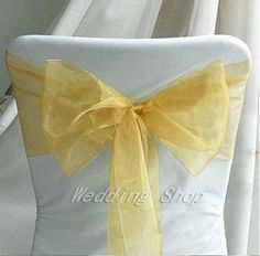 20 colors--100pcs/lot 18 x 275cm Wedding Party Banquet Venue Decorations Chair Organza Sash Bow