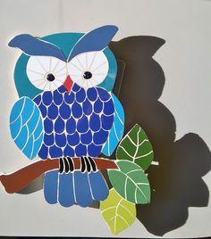tutor búho mosaico