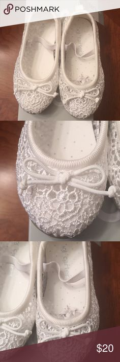 NWT-Carter's Ruby Flats New with box toddler girls Carter's Ruby flats. •Crochet design  •Bow accent •Elastic strap for perfect fit •Round toe  •Slip-on style  •Padded footbed  •Size 5. Excellent condition Carter's Shoes Dress Shoes