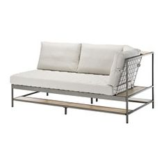 IKEA - EKEBOL, Sofa, , 10-year limited warrranty. Read about the terms in the limited warranty brochure.Smart shelves for storage on all sides of the sofa. The steel mesh can be used to store things by hanging them up.Can be placed as a focal piece in the middle of the room since the steel mesh at the back will add a nice decorative touch to the room.The sofa is made of separable parts and thanks to smart packaging it's easy to take home.The corner can be placed to the right or left,...