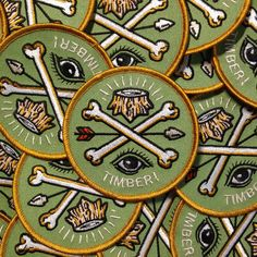 embroidered sew on patch from timberps