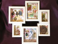 An Asian Collective Frame- A Vintage Style Shadowbox filled with Asian Inspired collectables