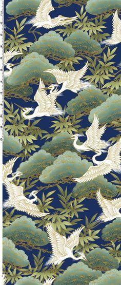 Japanese Crane, Japanese Paper, Japanese Painting, Japanese Fabric, Chinese Painting, Japanese Artwork, Japanese Textiles, Japanese Patterns, Japanese Prints