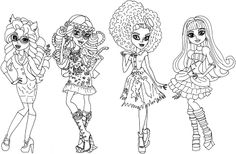 astra nova monster high coloring pages | Monster High Pets Coloring Pages | Free Monster High 13 ...