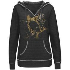 Women's Pittsburgh Penguins Black Plus Sizes Cross Block Pullover Hoodie - $59.95