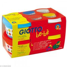 Pasta para jugar GIOTTO Bebé - Colores primarios 4 x 100 g - Fotografía n°1